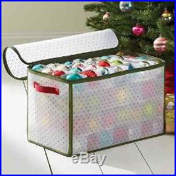 Large Christmas Storage Box Ornament Organizer Bin Holiday 112 Ct. Capacity Case