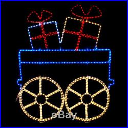 Large LED Santa Christmas Toy Train Premium Rope Lights Outdoor Decoration NEW