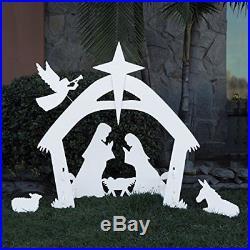 Large Outdoor Christmas Nativity Scene Yard Decoration Set Easy Set-up / Storage