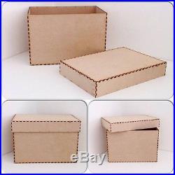 Laser Cut Memory Box Christmas Eve Box Plain Box with a lid CRAFT (CTO110)