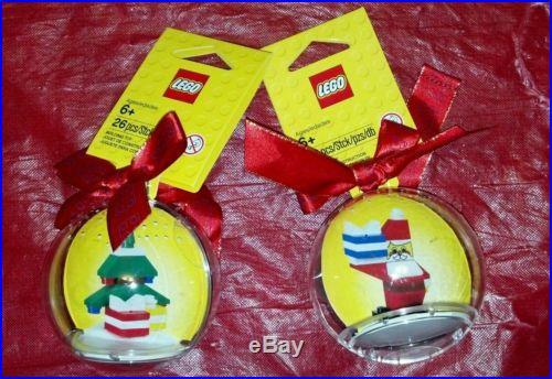 Lego HOLIDAY BAUBLE lot Santa & Christmas Tree 850850 and 850851 new Ornaments