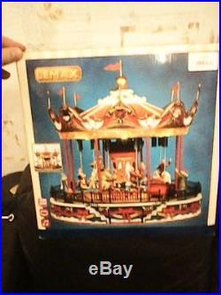 Lemax Santa Carousel New Boxed 2013 34682 Christmas Rare