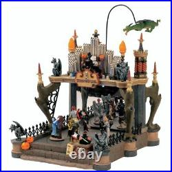 Lemax Spooky Town Village Animated Halloween Monsters Ball 54302 Retired