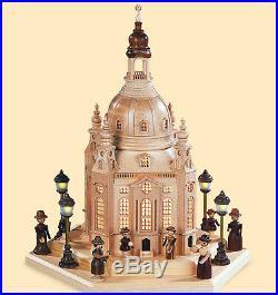 Lichterhaus Frauenkirche Dresden mit Innenbeleuchtung & Trafo Müller 54200 Neu