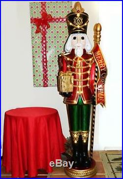 Life Size 6′ Grand Nutcracker Traditional Christmas Holiday Decor