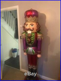 Life Size Nutcracker 6ft Christmas Soldier Figure Sculpture Indoor Outdoor Decor