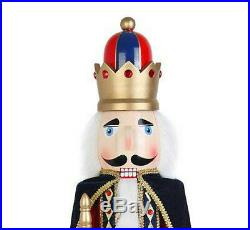 Life Size Nutcracker King With Cape Christmas Decor Ornament Indoor Toy 36 Prop