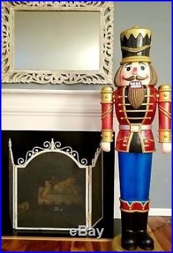 Lifesize Christmas Grand Nutcracker Lighted LED Musical 5ft 8 Decoration