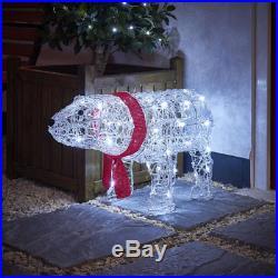 Light Up LED Christmas Reindeer Snowman Indoor Outdoor Acrylic Decoration