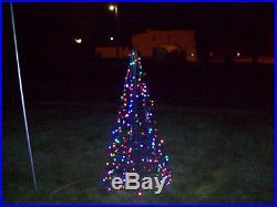 Light o rama 6ft folded flat led chritmas tree