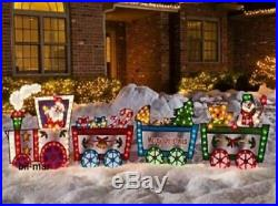 Lighted Christmas Train SANTA CLAUS Outdoor Decoration 118 long by 36 high NEW