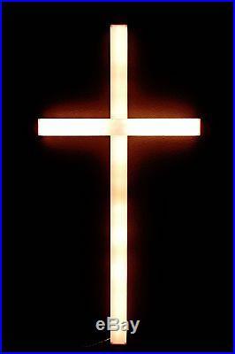 Lighted Cross Decor Large 2′x4′ Outdoor Christmas Lights Nativity Window Jesus