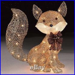 Lighted Outdoor Christmas Decoration Gold Fox 24 Indoor Holiday Yard Xmas Decor