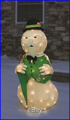 Lighted Tinsel Rudolph Movie Sam Sculpture Outdoor Christmas Decoration Yard Art