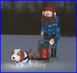 Lighted Tinsel Rudolph Movie Yukon Cornelius Sculpure Outdoor Christmas Decor