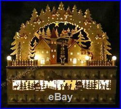 Lighted Wooden Advent Calendar Winter Wonderland CY0035 A NIB