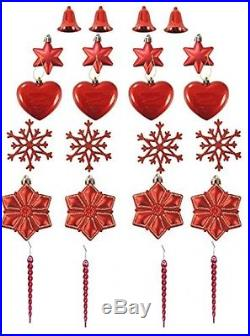 LimBridge 24pcs Christmas Tree Ornament Hanging Xmas Trees Wedding Parties Mini