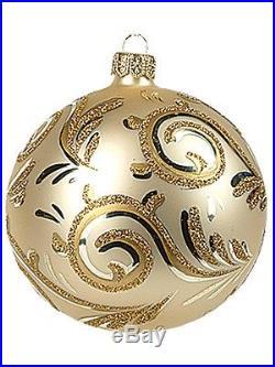 Line Swirls Fine Decoration Polish Glass Christmas Ornament New Tree Decoration