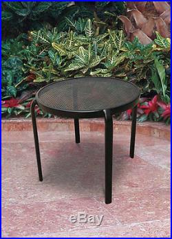 Living Accents Mesh Table 20 L X 20 W Black Pack of 6