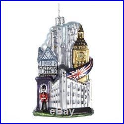 London England Blown Glass Christmas Ornament UK British Tree Decoration