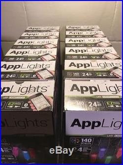 Lot Of 12 New AppLights LIGHTS LED LIGHT SHOW 140 EFFECTS BLUETOOTH 24 BULBS