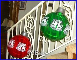 Lot of 4 Inflatable Christmas Ornaments 12 Waterproof Yard House Party Decor