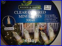 Lot of 4 spools Clear colored mini White Lights 300 Ct Christmas Wedding NEW