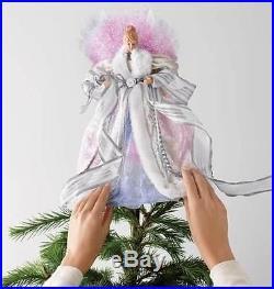 Lovely Lighted Fiber Optic Silver Christmas Angel Tree Topper from Avon NEW