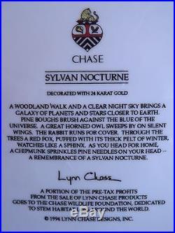 Lynn Chase SYLVAN NOCTURNE 24 K Gold 5 Piece Setting STUNNING