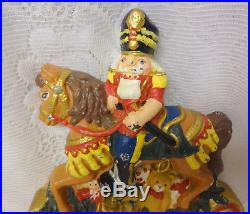 MIDWEST Nutcracker Toys Cast Iron Christmas Double Mantel Hook Stocking Holder H