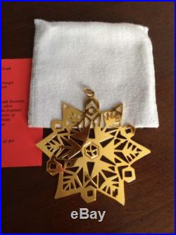 MMA 1980 Star Sterling Silver w Gold Christmas Ornament Metropolitan Museum Art