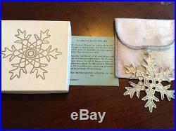 MMA 1981 Snowflake Sterling Silver Christmas Ornament Metropolitan Museum Art