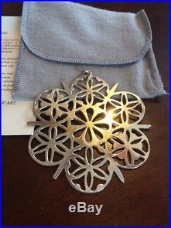 MMA 1984 Snowflake Sterling Silver Christmas Ornament Metropolitan Museum Art