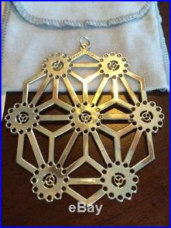 MMA 1986 Snowflake Sterling Silver Christmas Ornament Metropolitan Museum Art