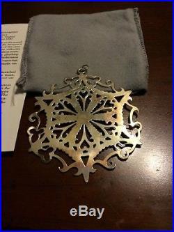 MMA 1990 Snowflake Sterling Silver Christmas Ornament Metropolitan Museum Art