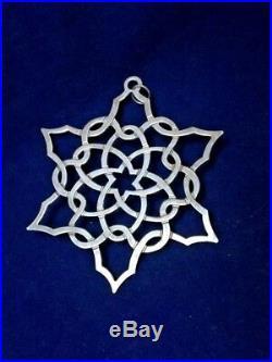 MMA 1993 Snowflake Sterling Silver Christmas Ornament Metropolitan Museum Art
