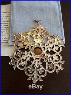 MMA 1997 Snowflake Sterling Silver Christmas Ornament Metropolitan Museum Art