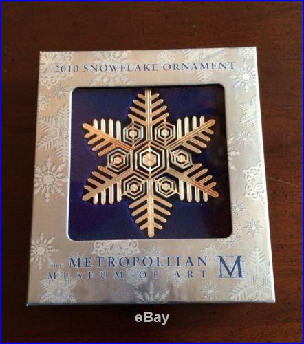 MMA 2010 Sterling Silver Snowflake Christmas Ornament Metropolitan Museum Art