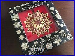 MMA 2012 Star Gold Sterling Silver Christmas Ornament Metropolitan Museum Art