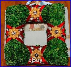 MacKenzie Childs Squared Wreath Xmas 20 3/8 X 20 3/8