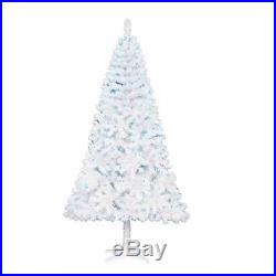 Madison Pre-Lit WHITE Artificial Christmas Tree 6.5ft BLUE Lights-NEW