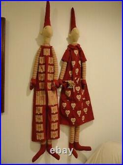 Maileg Advent Calendar Fabric Dolls Pixy Christmas Elf 2 Large 491/2 Pixie