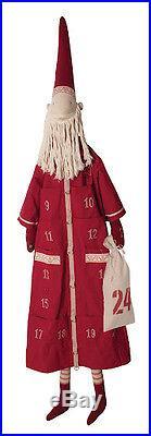 Maileg Danish Nisse Pixy Christmas Countdown Advent Calendar Santa Red