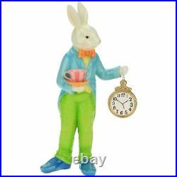 Mark Roberts 2021 Rabbit with Clock Figurine, 18.5 inches