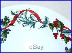 Martha Stewart Collection-Holiday Garden Dinner Plates-set of 4 NIB $80