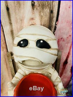 Marvin The Mummy With Candy Bowl Dish 15 1/2 Inch Halloween Decoration Decor