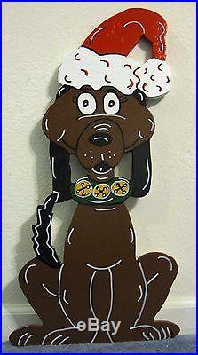 Max the reindeer Dog Grinch Santa Lawn Christmas Yard Art Decoration