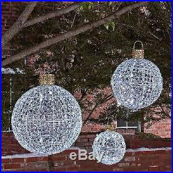 Member's Mark 3 Piece Set of Beaded Twinkling Christmas Ornaments New