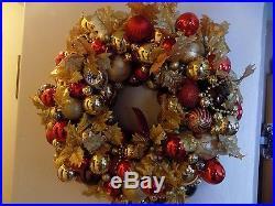 Merry Christmas Beautiful Handmade Ornament Wreath