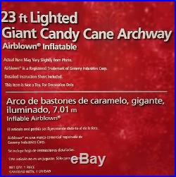Merry Christmas GIANT Candy Cane Archway Inflatable Airblown Inflatable 23 FOOT